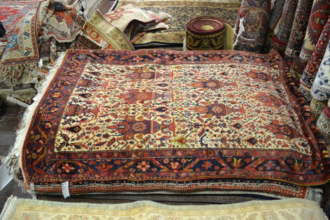 Persian Rug Tribal Repair Orange