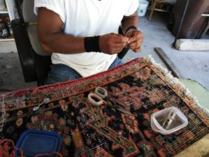 rug repair and restoration in orange county